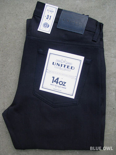 United Stock Dry Goods Slight Overdyed Indigo 1
