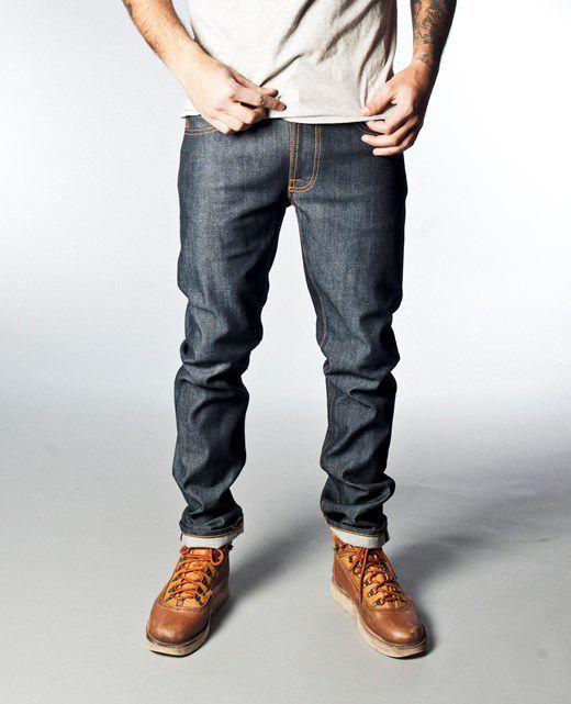 Nudie Thin Finn Organic Dry Heavy Selvage Raw Denim Jeans  d7affbfbbd28