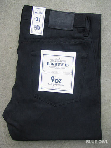 United Stock Dry Goods Narrow Overdyed Black 1
