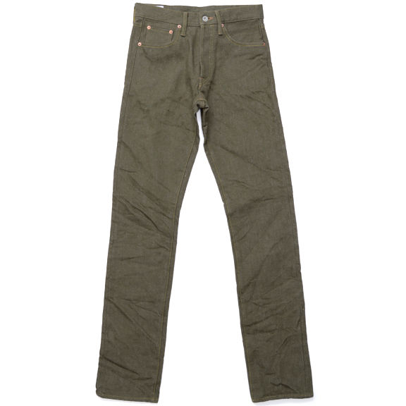 Oni 527OR Olive Secret Denim Tapered 1