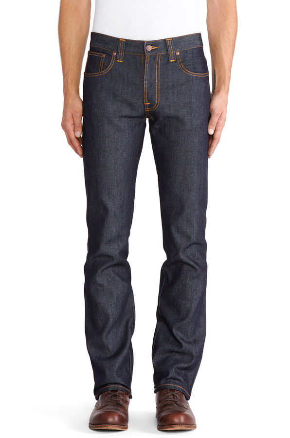 Nudie Slim Jim Organic Dry Broken Twill 1