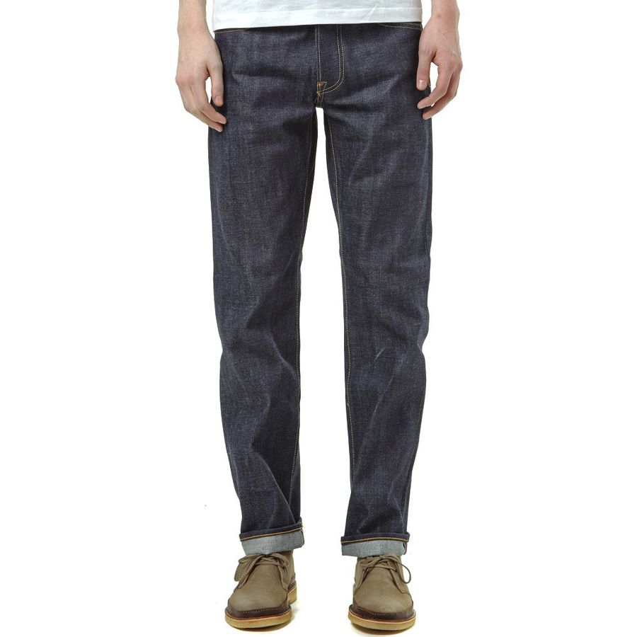 edwin ed 39 red selvage raw denim jeans heddels scout