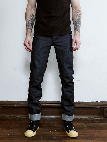 Left Field Collect Mills 18 Oz. Indigo Slub Chelsea Jean Front Fit