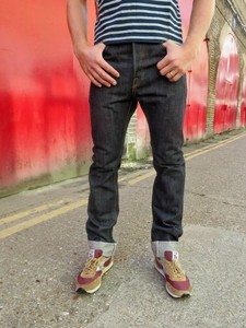Pure Blue Japan X015 Slim Straight Jean Front Fit