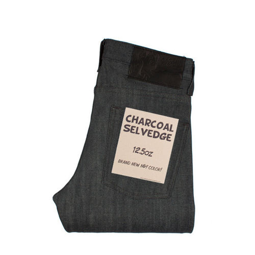 Naked & Famous Skinny Guy Charcoal Selvedge 1