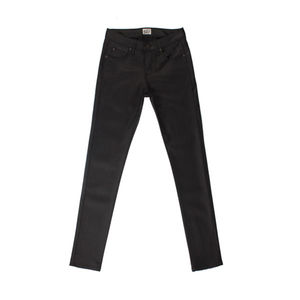 Naked & Famous Skinny Guy Black Wax Coated Stretch 1