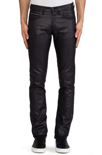 Naked & Famous Skinny Guy Indigo Wax Coated 1