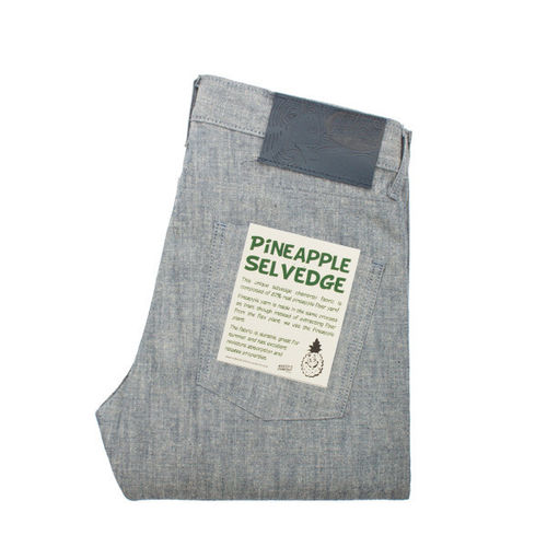 Naked & Famous Skinny Guy Pineapple Selvedge Chambray 1