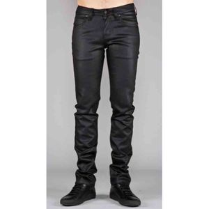 Naked & Famous Super Skinny Guy Black Wax Coated 1