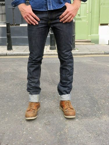 Steel Feather SF02AI Jean Natural Indigo Front Fit
