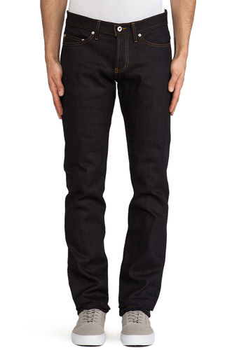 Naked & Famous Weird Guy Deep Indigo Stretch Selvedge Front Fit