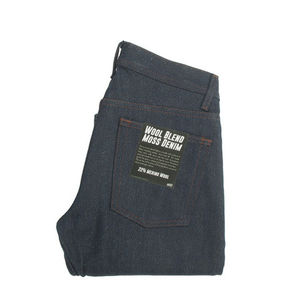 Naked & Famous Weird Guy Wool Blend Moss Folded