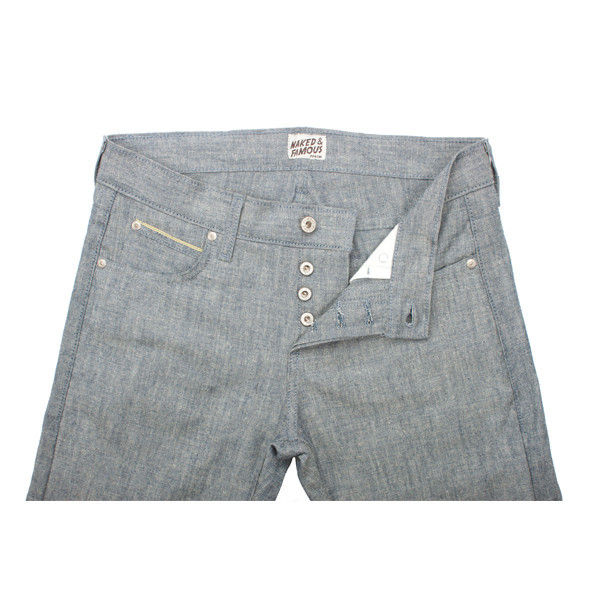 Naked & Famous Weird Guy Pineapple Selvedge Chambray 1