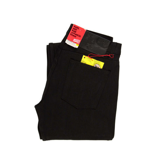 Naked & Famous Weird Guy Solid Black Selvedge 1