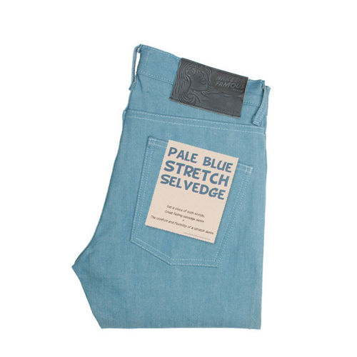 Naked & Famous Weird Guy Pale Blue Stretch Selvedge 1