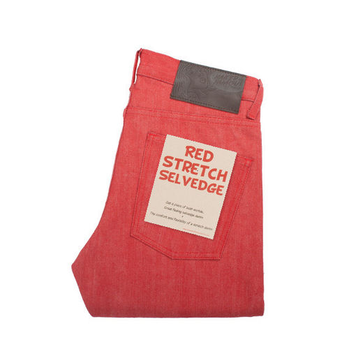 Naked & Famous Weird Guy Red Stretch Selvedge 1
