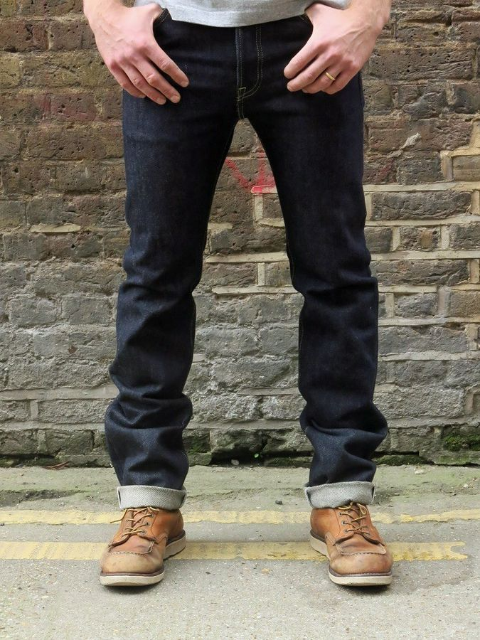 Iron Heart IHXRH-666s 21 oz. Slim Tapered Selvedge Jean Front Fit